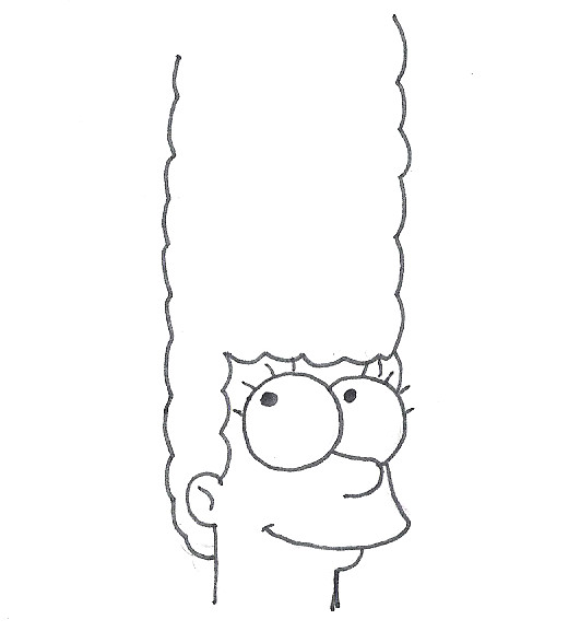 how to draw yourself as a simpson