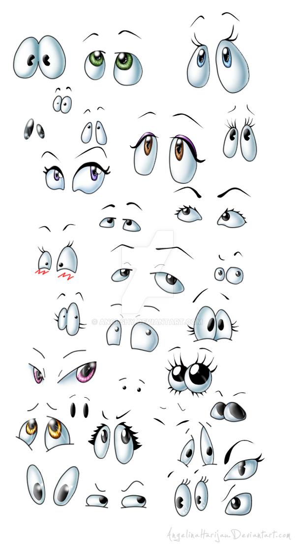 Cartoon eyes mix by Angi-Shy