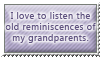 Listen to grandparents - stamp by Angi-Shy