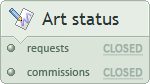 Requests, commissions - closed closed
