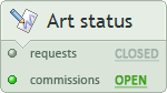Requests, commissions - closed open
