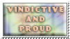Vindictive and proud - stamp