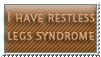 Restless legs syndrome - stamp by Angi-Shy