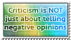 Criticism fact 1. - stamp