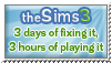 Sims 3 - fixing more than playing - stamp by Angi-Shy
