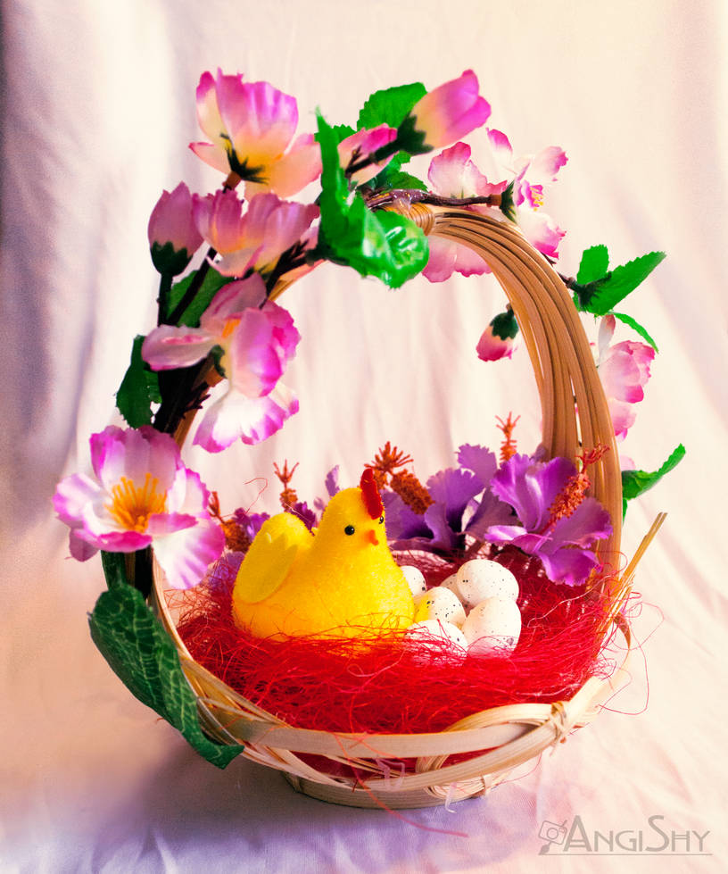 Easter 2018 decoration - small basket 1. by Angi-Shy