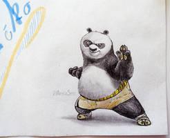 Envelope art: Kung fu panda by Angi-Shy