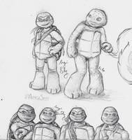 TMNT 2012 practice + OC Marcello by Angi-Shy