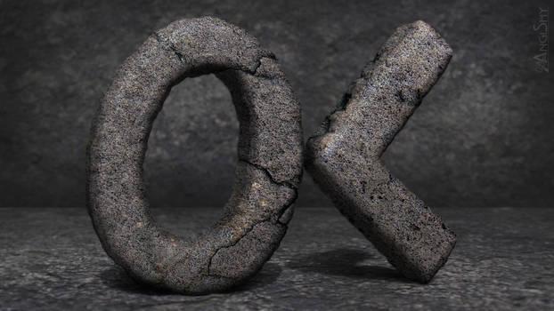 OK - 3D logo