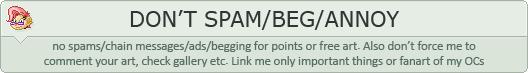 DA profile warning - spam