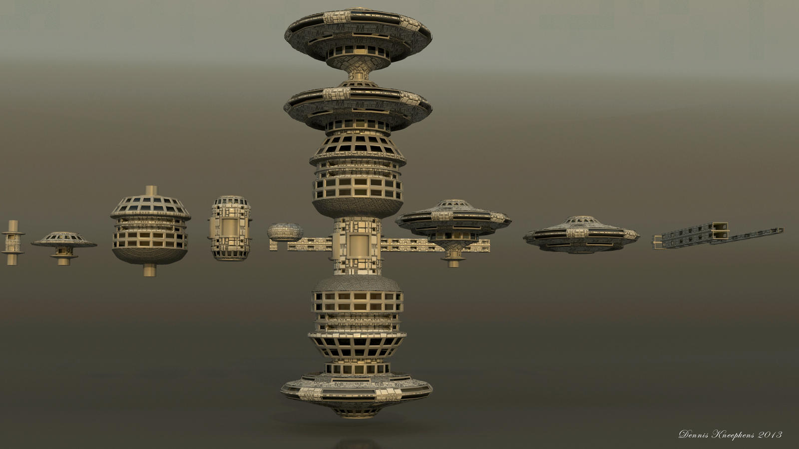Space station construction kit free 3d model by for Space station 13 3d