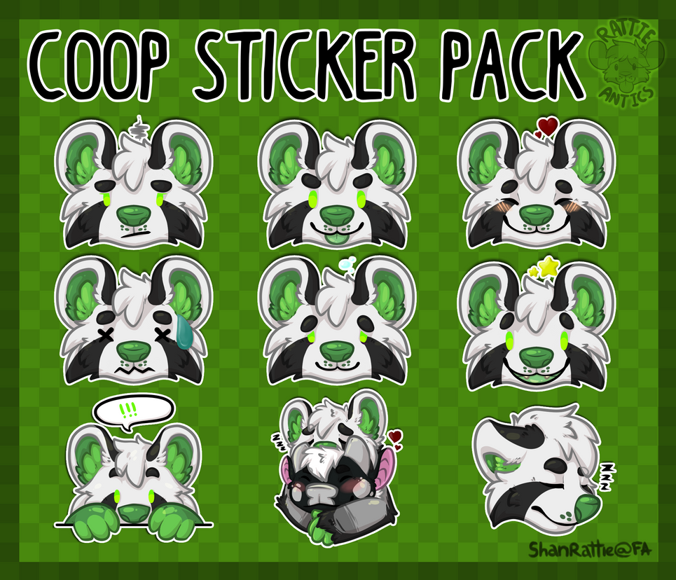 Personal Stickers - Coop by RattieAntics