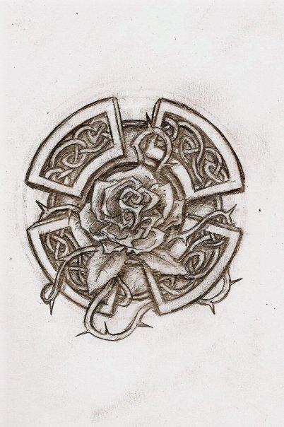 celtic rose by wind666walker on deviantart