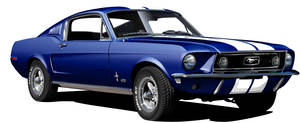 1968 Ford Mustang GT 390 blue