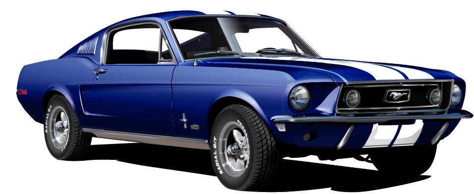 1968 Ford Mustang Gt 390 Blue By Drogobroadband On Deviantart