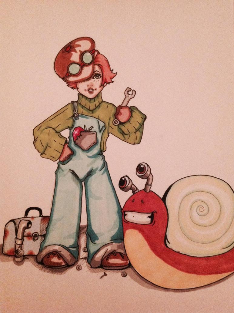 Snail mechanic by FOX-hime