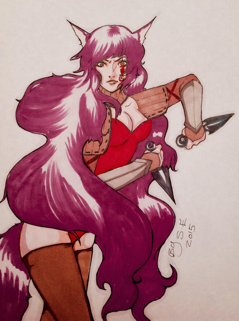 Wolf ninja by FOX-hime