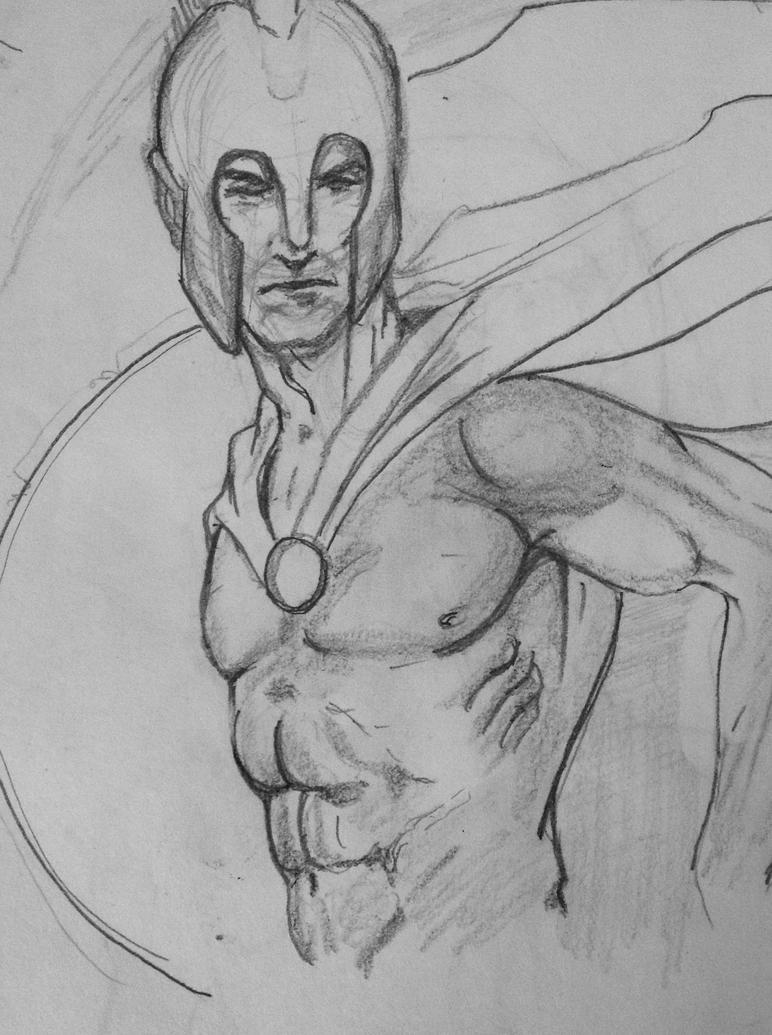 Spartan sketch my dad did by FOX-hime