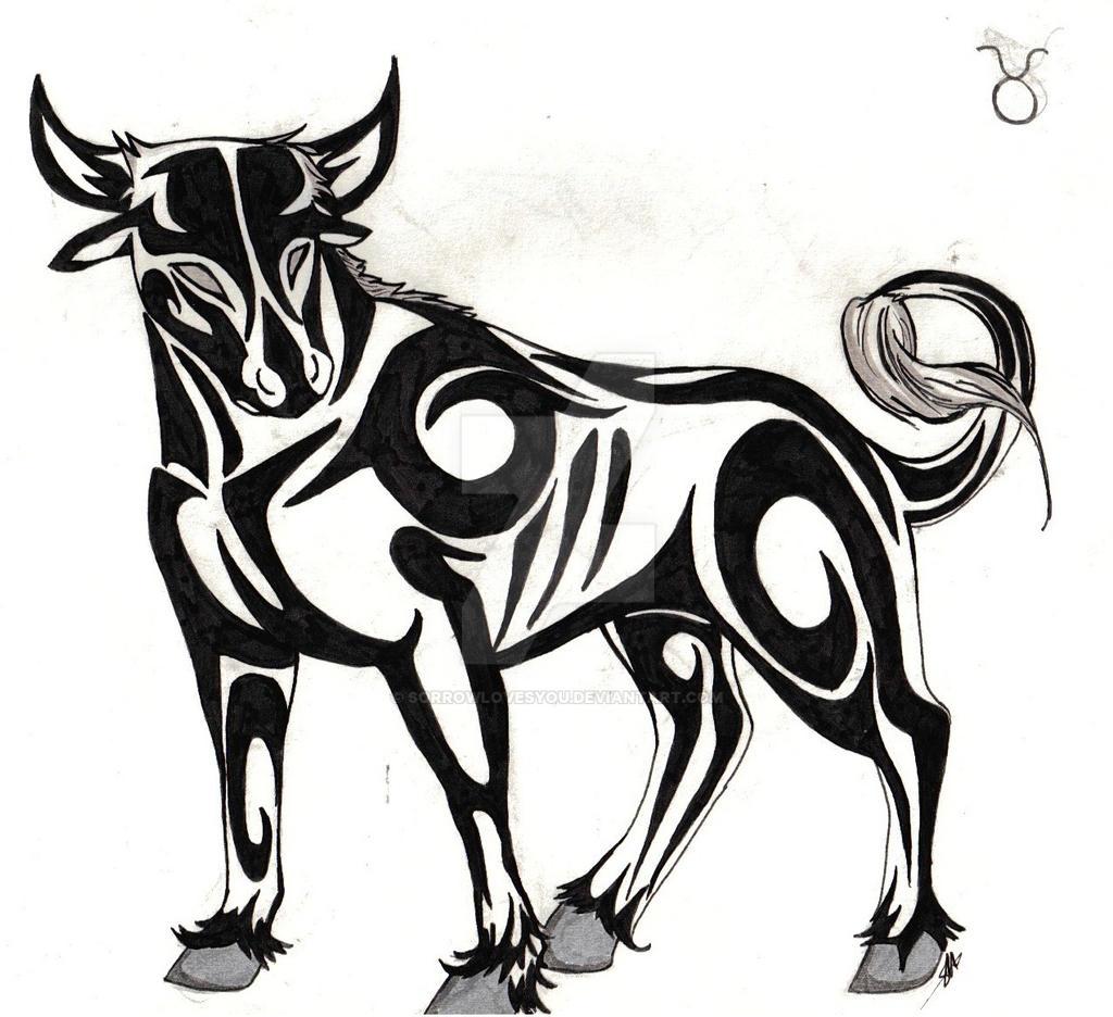 taurus tribal by sorrowlovesyou on deviantart