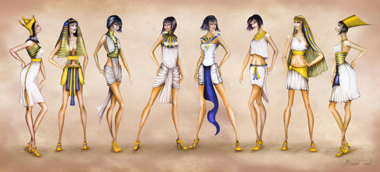 Costume History Fashion Collection Ancient Egypt By Basaktinli On Deviantart