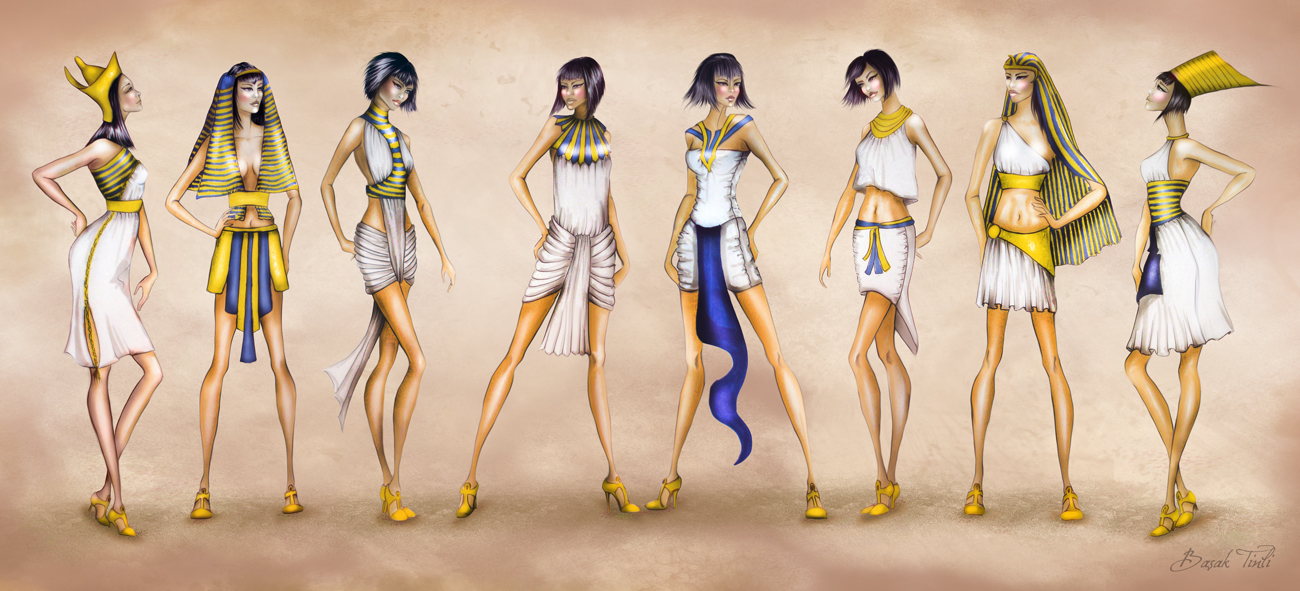 Costume History Fashion Collection Ancient Egypt by BasakTinli