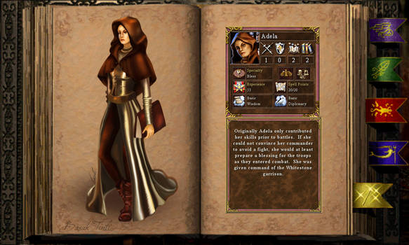 Adela  the cleric- full outfit