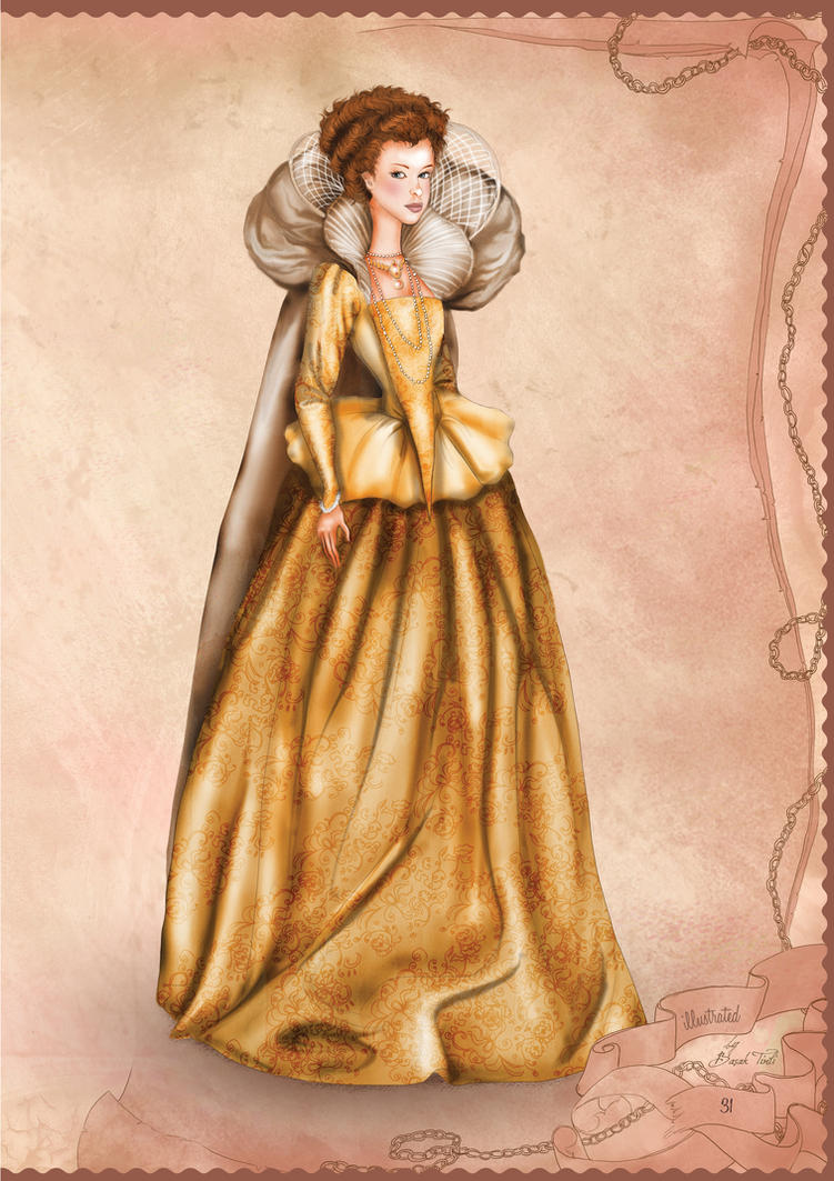 Elizabethan era inspired illustration by BasakTinli