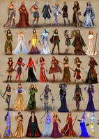 Female heroes of Heroes of Might and Magic 3
