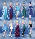 Elsa in 20th century fashion Frozen