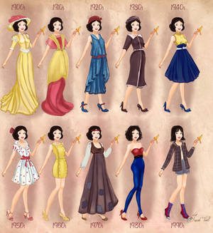 Snow White in 20th century fashion