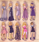 Rapunzel in 20th century fashion