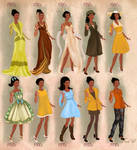 Tiana  in 20th century fashion
