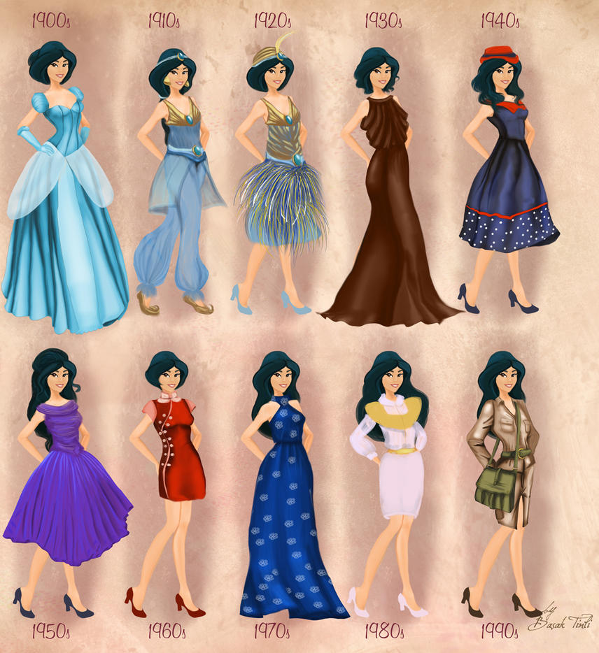 Jasmine in 20th century fashion by BasakTinli by BasakTinli