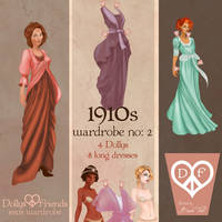 1910s Fashion Paper Dolls Dollys and Friends by BasakTinli