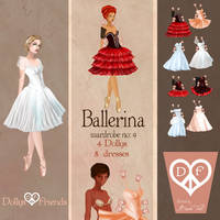 Ballerina Fashion Paper Dolls Dollys and Friends by BasakTinli