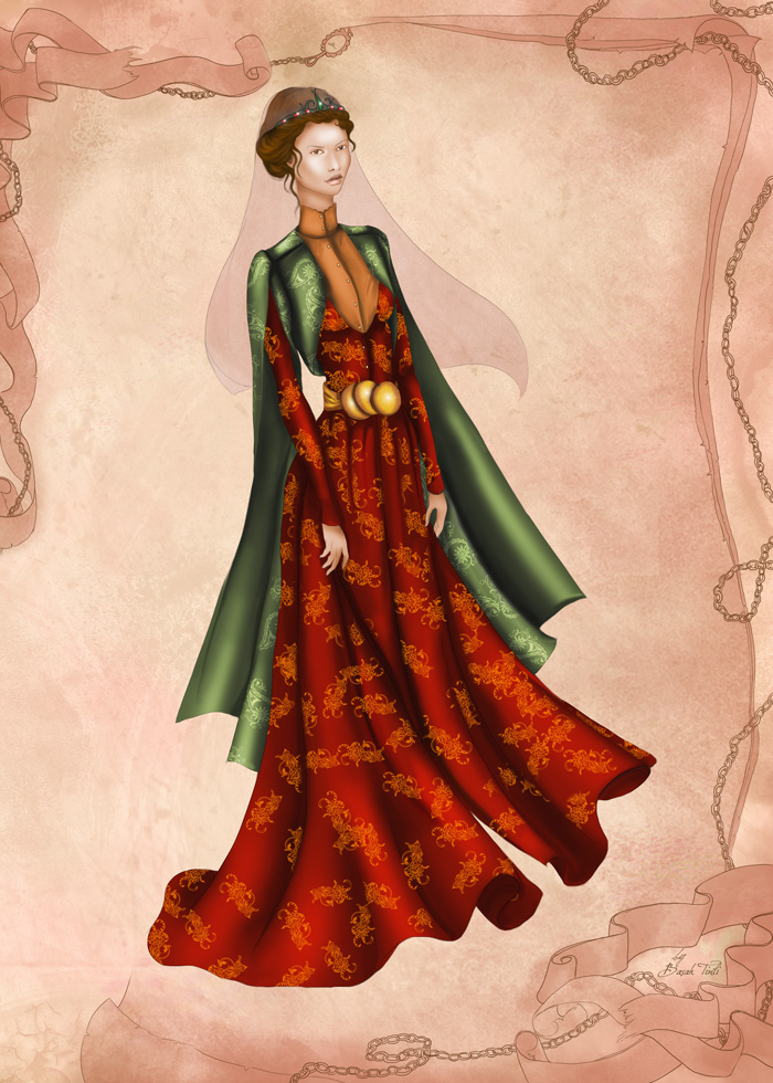 Ottoman Costume Fashion Illustration By Basaktinli By Basaktinli On