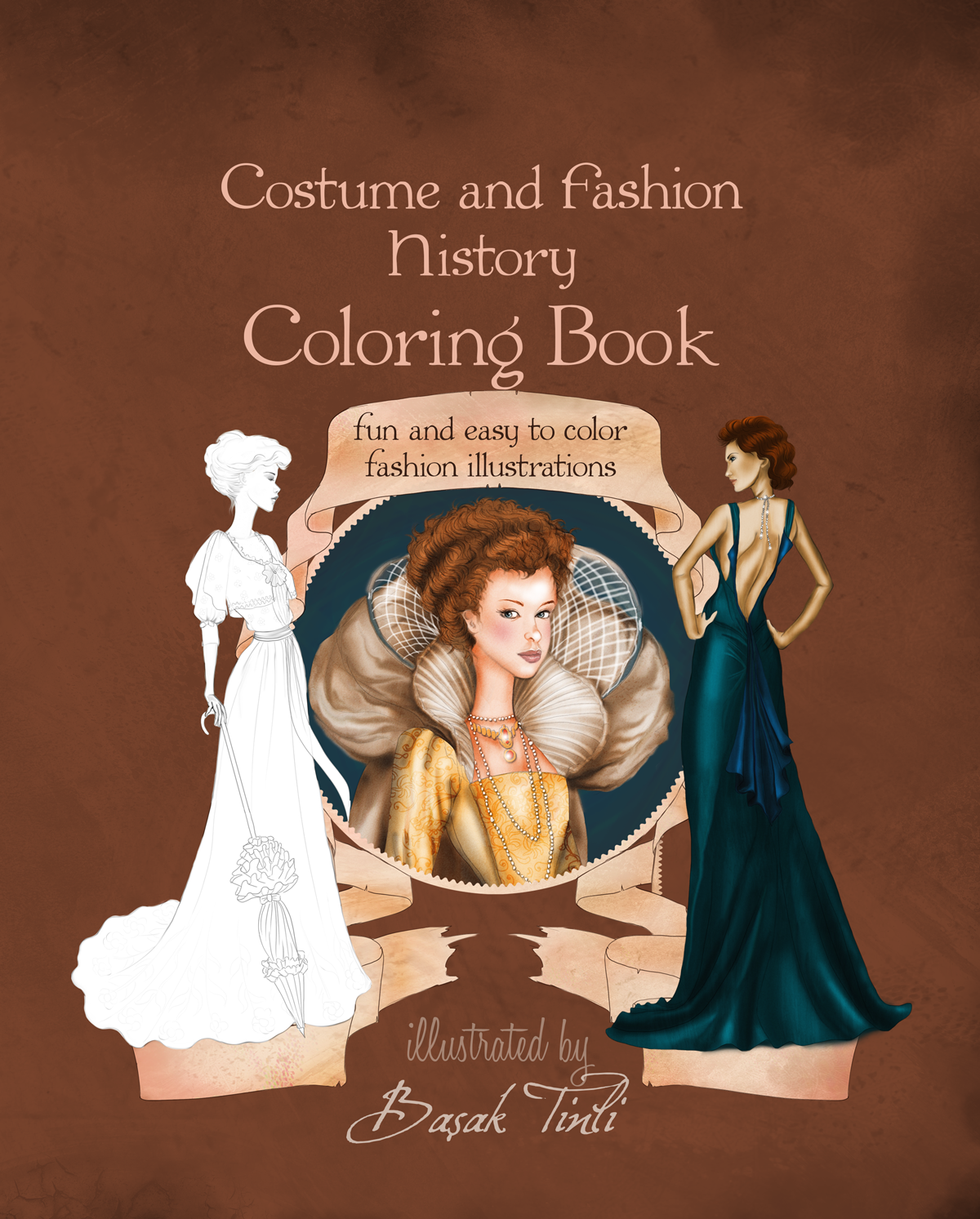 Fashion Book Cover Job : Cover costume and fashion history coloring book by