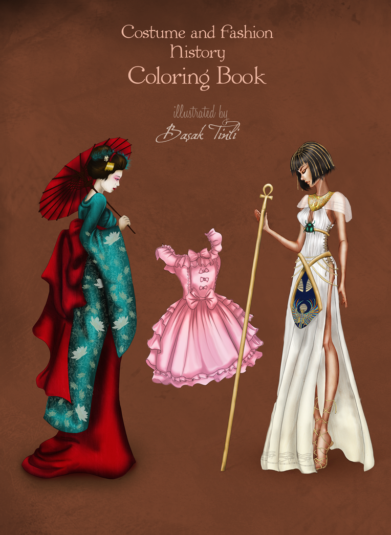 Fashion Book Cover Quest : Back cover costume and fashion coloring book by