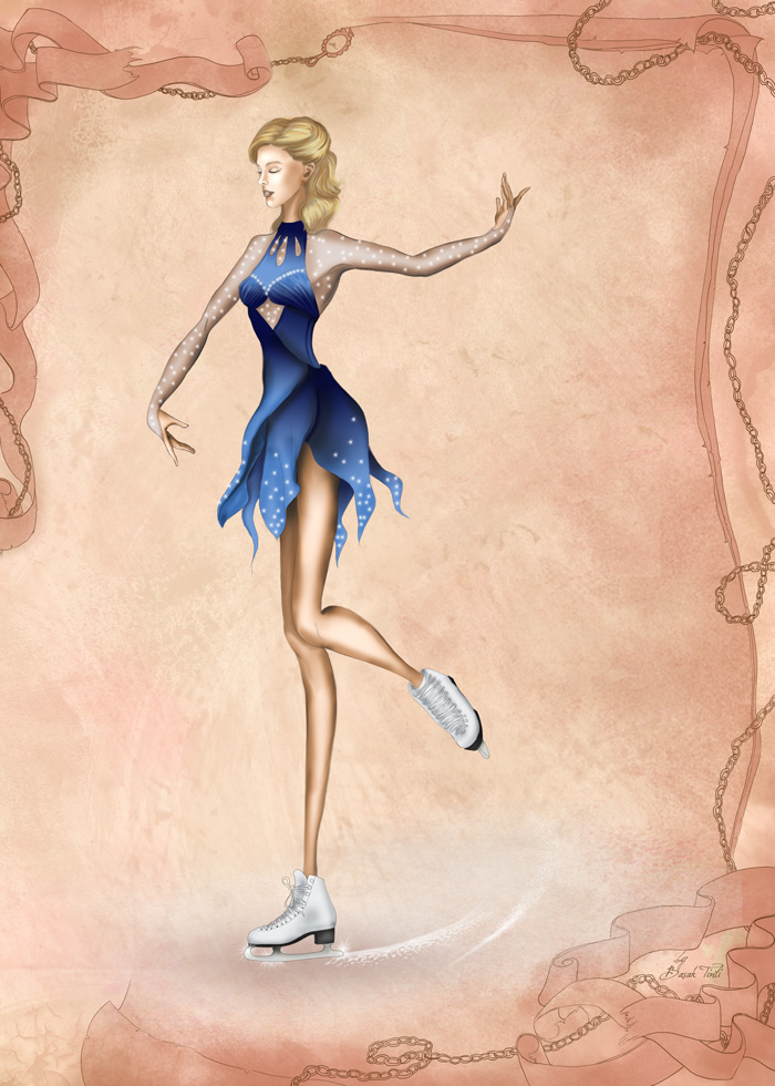 Figure Skater Fashion Illustration By Basaktinli By Basaktinli On Deviantart