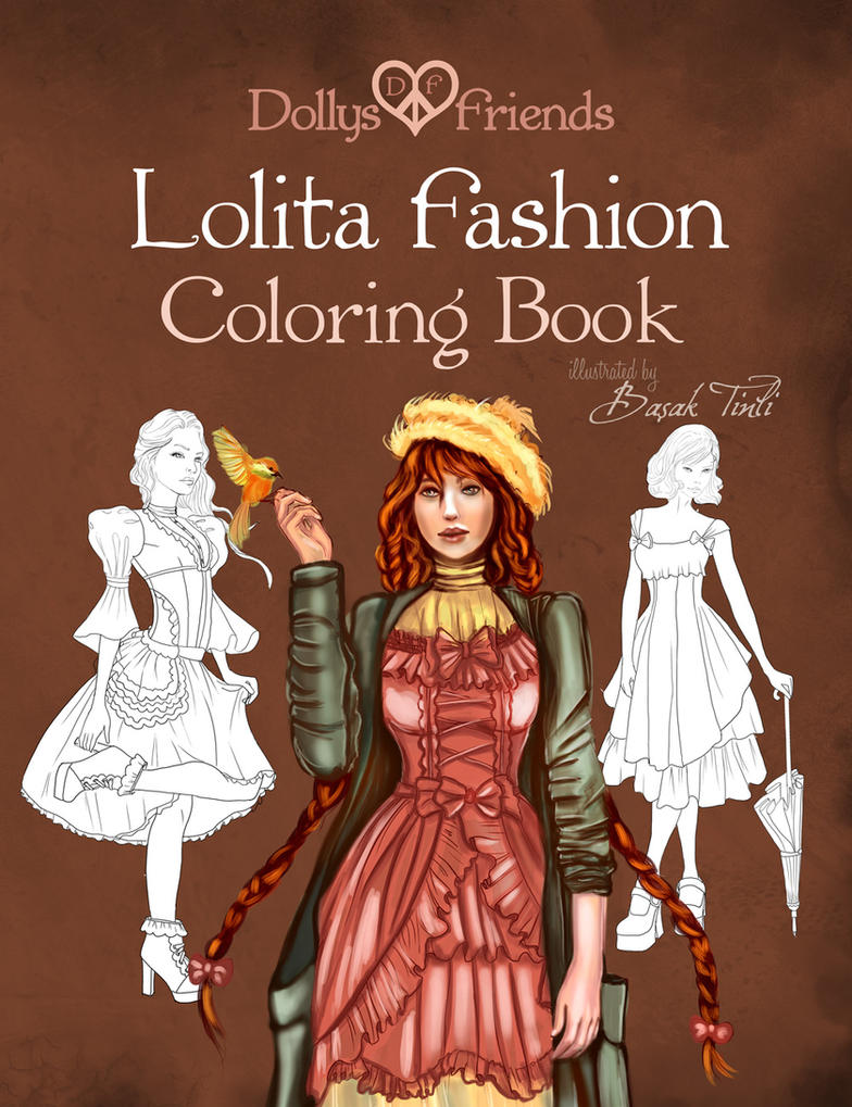 Fashion Book Cover Questions ~ Lolita fashion coloring book cover by basaktinli on deviantart