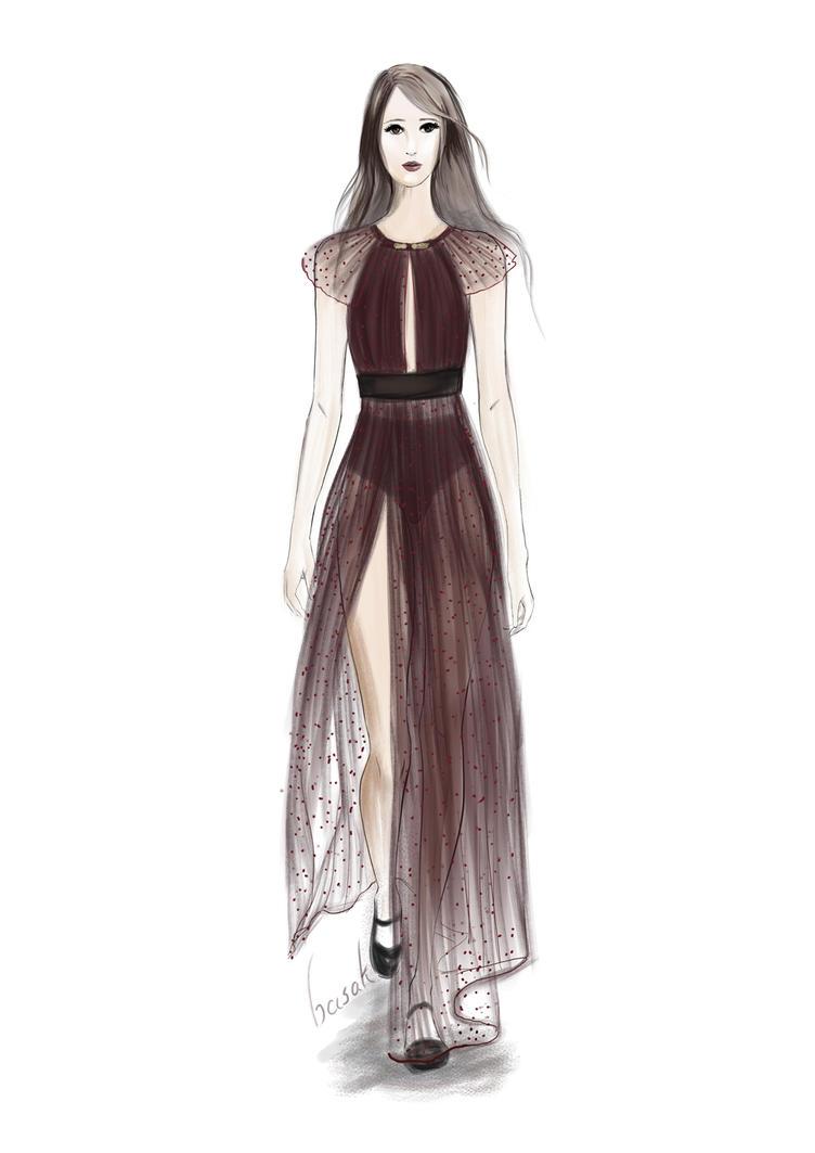 Fashion Dress Drawing Easy