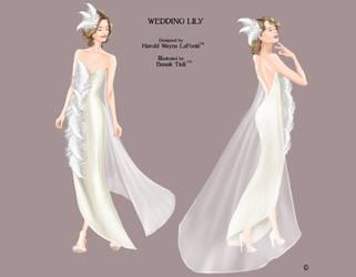 Wedding Dress Fashion Illustration by BasakTinli