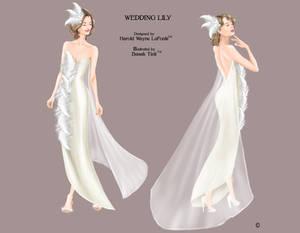 Wedding Dress Fashion Illustration