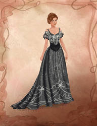Process Video for of 1900s dress illustration