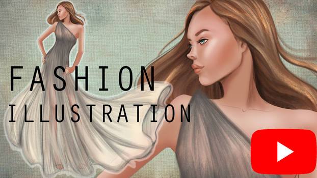 Fashion illustration of Sheer Gray Chiffon Dress