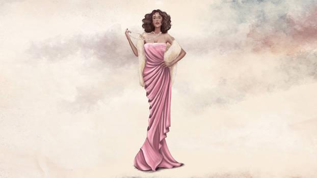 Fashion Illustration Vintage Dress Process Video