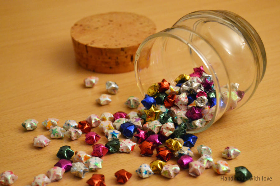 Origami Stars In A Jar By Shimauuuma On Deviantart