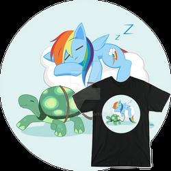Rainbow Dash Multitasking (Tee Sample)