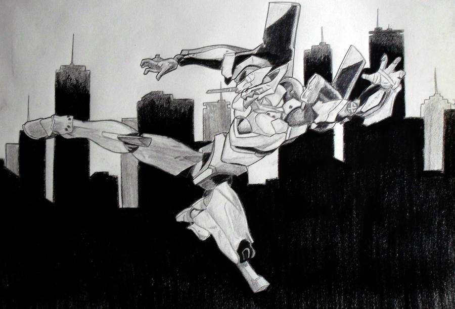 FanART Evangelion EVA 01 by Bozakchidori