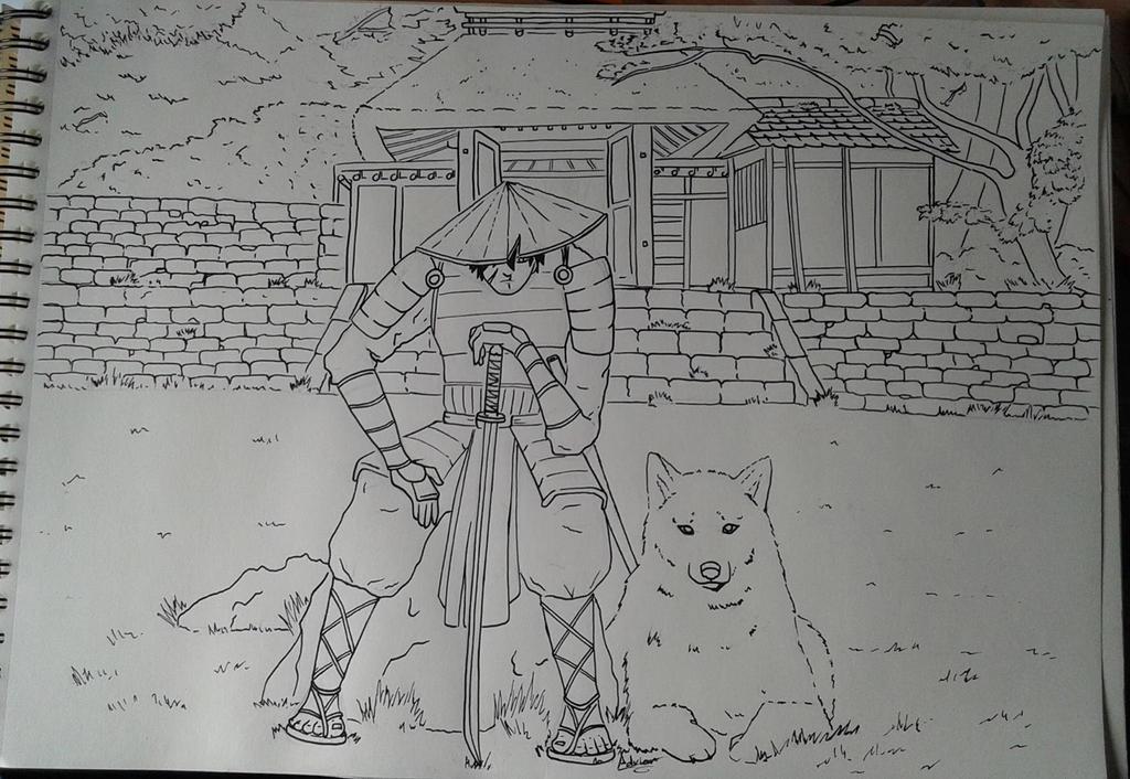 Samurai con Lobo by Bozakchidori